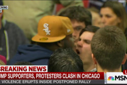 Trump rally violence comes to head in Chicago