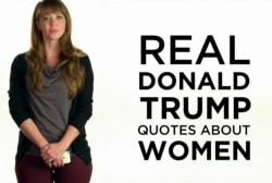 New ad: Real Donald Trump Quotes About Women