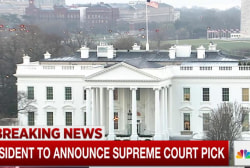 White House to announce Supreme Court pick