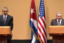 A historic news conference in Cuba