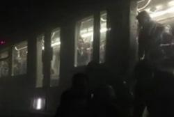 Video shows riders escaping Belgium subway