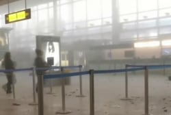 Video shows airport following attack