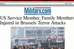 US service member wounded in Belgium attacks