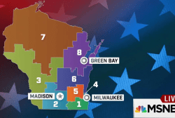 The geographic breakdown of Wisconsin voters