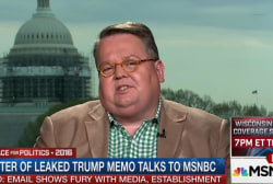 Writer of leaked Trump memo talks to MSNBC