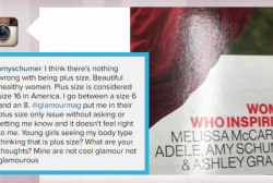 Amy Schumer calls out magazine over plus size