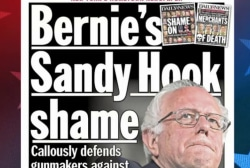 Sanders under fire for Sandy Hook comments