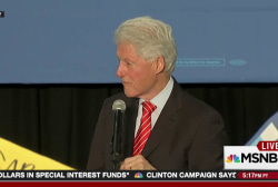 Bill Clinton engages BLM protester