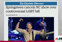 Springsteen cancels NC show over anti-gay law