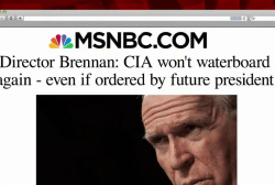 CIA director says agency won't waterboard