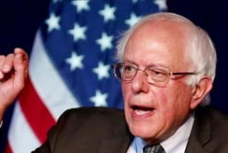 Sanders fights to close in on Clinton in NY