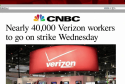 40K Verizon workers set to strike Wednesday