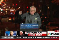 Bernie Sanders holds massive rally in New...