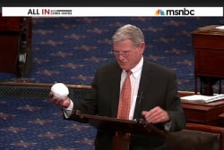 'The Senator with the snowball'