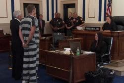 Court applauds during Tensing bond hearing