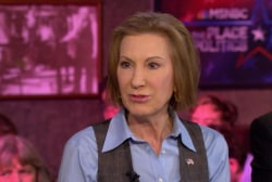 Fiorina: I don't use my gender to get votes