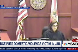 Judge puts domestic violence victim in jail