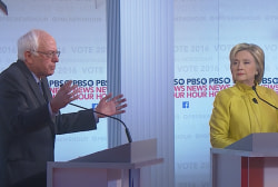 Sanders, Clinton trade jabs on health care