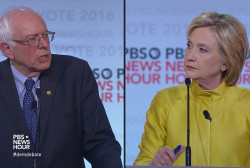 Sanders calls Clinton's attack 'a low blow'