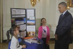 Obama impressed with kids at White House...