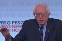 Sanders surprised by 'white people' topic