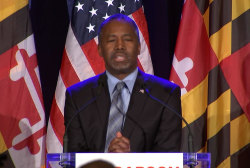 Carson says he's not ready to leave race