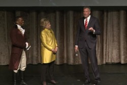 Clinton, NYC Mayor make racially-tinged joke