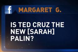 Ted Cruz fills Sarah Palin's shoes