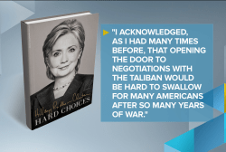 Hillary Clinton discusses Taliban in new book