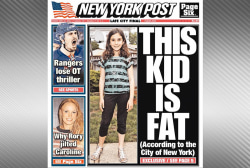 Third grader labeled overweight by school