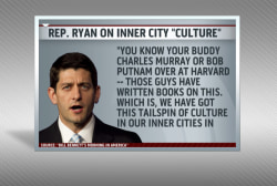 Ryan in hot water for  'culture' comments