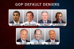 GOP 'default deniers' expose schisms