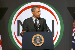 Obama takes on assaults to voting rights