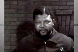 Mandela's first TV interview