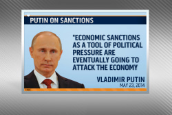 Putin says sanctions are impacting Russia