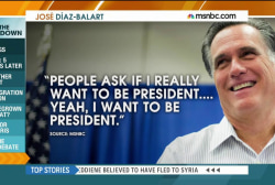 Romney to donors: 'I want to be president'