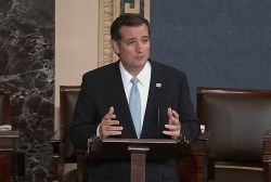 Cruz a spectacle with faux filibuster