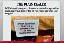 Chain store sales cost workers Thanksgiving