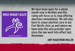 Less abortion access in Texas as court rules