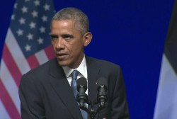 Obama talks tough, asserts NATO unity