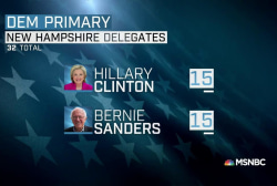 Clinton's NH loss softened by delegate math