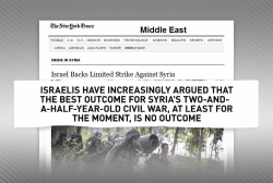 Israel's role in the Syrian conflict