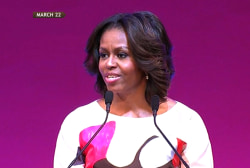 First lady takes the spotlight on world stage
