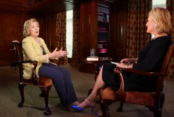 Clinton discusses Putin remarks, Benghazi