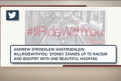 #IllRideWithYou: Twitter responds to standoff