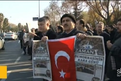 Turkey's media raid draws critics