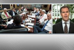 Obama using 'flood the zone' strategy to...