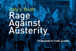 Italy's youth rally against austerity