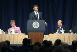 Obama cracks up one of his biggest critics