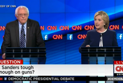 Sanders, Clinton spar on gun issues